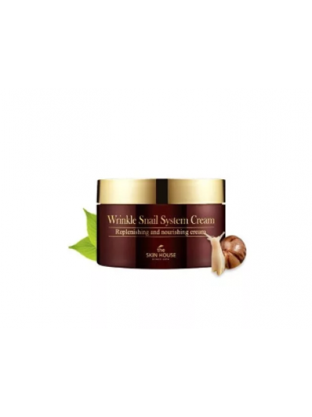 Антивозрастной улиточный крем The Skin House Wrinkle Snail System Cream