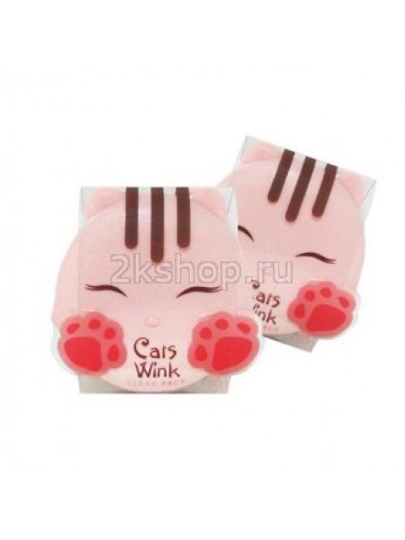 """Tony Moly Cats Wink Clear Pact  Матирующая пудра """"Чистое лицо"""""""