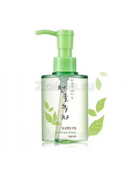 Welcos Green Tea Гидрофильное масло  для умывания с зеленым чаем  Green Tea Deep Cleansing Oil 170 мл