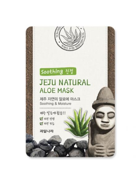 Увлажняющая тканевая маска c алоэ Jeju Nature's Aloe Mask