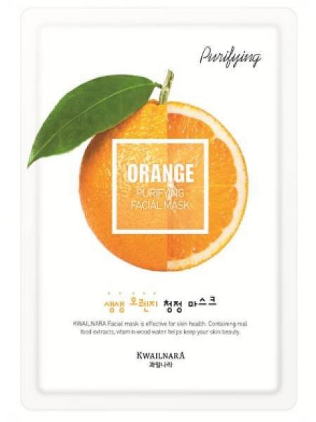 Kwailnara Orange Balancing Facial Mask Освежающая тканевая маска для лица c экстрактом апельсина
