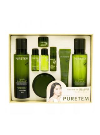 Подарочный набор косметики с алоэ  Welcos  Puretem Purevera 3 Items Set
