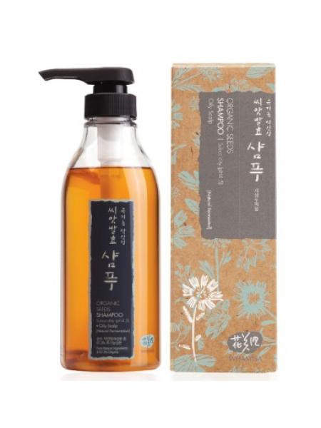 Шампунь для жирных волос и кожи головы на основе органических семян Whamisa Organic Seeds Shampoo - Oily  Scalp