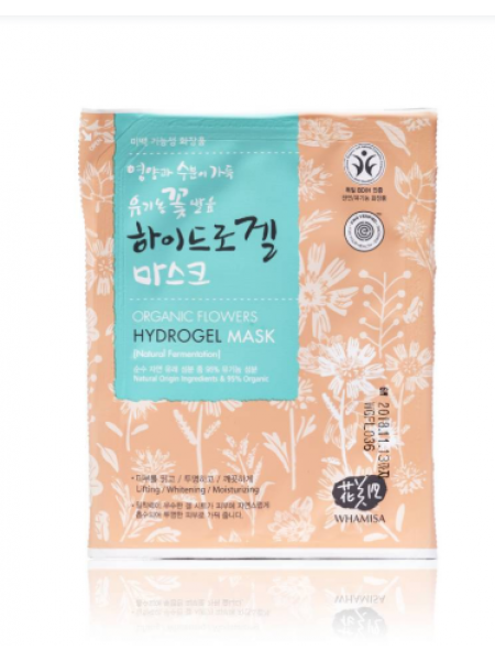 Гидрогелевая маска для лица на основе цветочных ферментов Whamisa Organic Flowers Hydrogel Mask (Natural Fermentation)