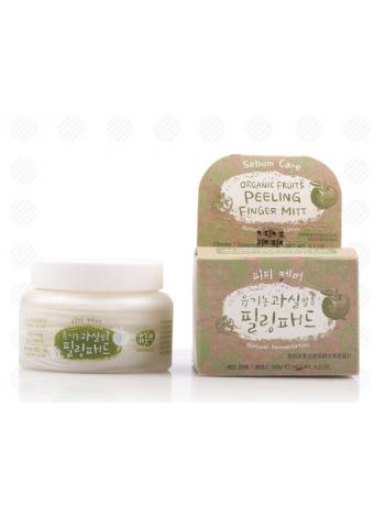 Пилинг диски  для жирной кожи на основе фруктовых ферментов Whamisa  Organic Fruits Peeling Finger Mitt Sebum Care (Natural Fermentation)