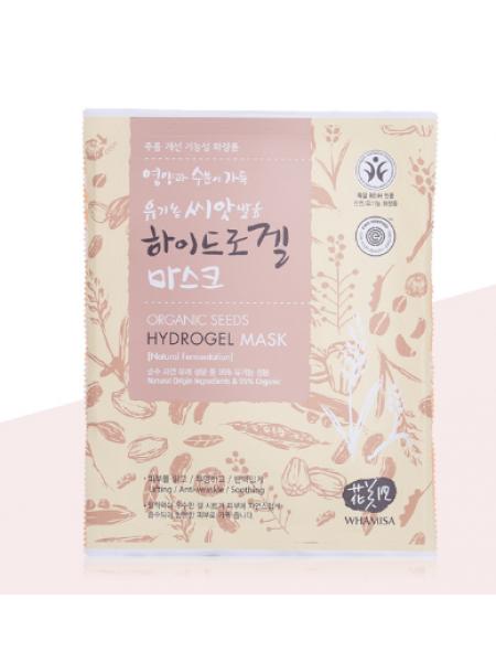 Гидрогелевая маска для лица на основе ферментов семян растений Whamisa Organic Seeds Hydrogel Mask (Natural Fermentation)
