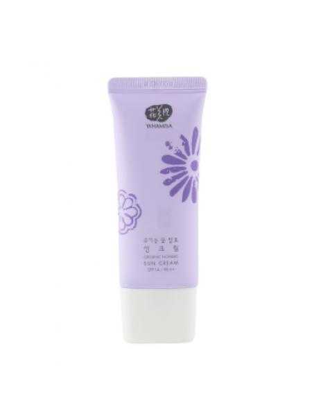 Whamisa Organic Flowers Sun Cream - SPF 14 / PA++ (Natural Fermentation)  Солнцезащитный крем на основе цветочных ферментов SPF 14 / PA++