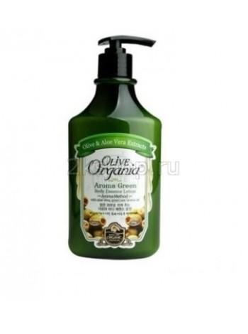 WHITE COSPHARM Organia Aroma Green Body Cleanser Гель для душа с Алоэ и Зеленым чаем