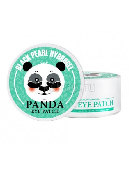 White Cospharm Black Pearl Hydrogel Panda Eye Patch Гидрогелевые патчи для кожи вокруг глаз с коллоидным золотом и коллагеном