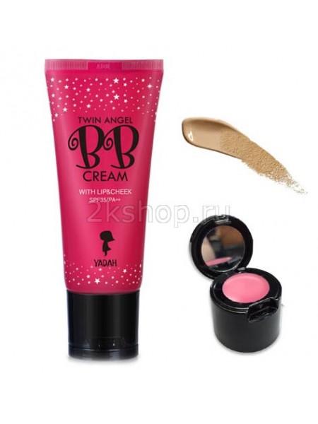 Yadah Twin Angel BB Cream ББ-крем увлажняющий с блеском для губ