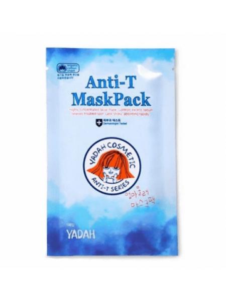 Yadah ANTI - T Mask Pack Тканевая маска для проблемной и жирной кожи