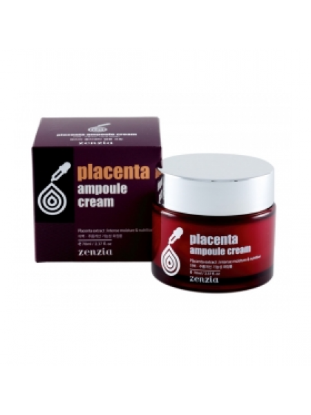 Zenzia Placenta Ampoule Cream Крем для лица с плацентой