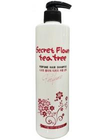 Bosnic  Шампунь для волос с маслом чайным дерева Secret Flower Tea Tree Perfume Hair Shampoo