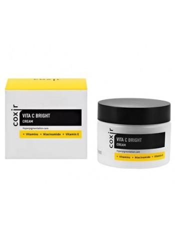 Крем выравнивающий тон кожи с витамином C COXIR Vita C Bright Cream