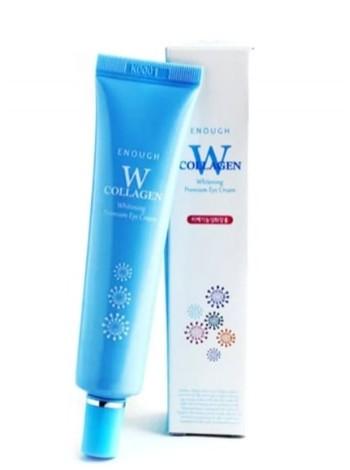 Осветляющий крем для кожи век с морским коллагеном и ниацинамидом  Enough W Collagen Whitening Premium Eye Cream