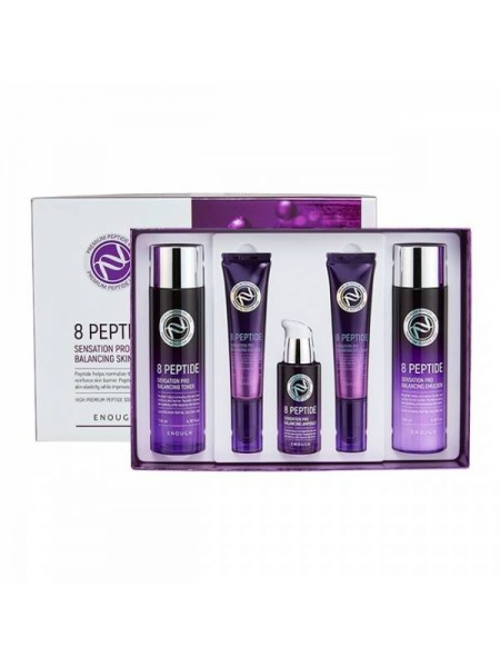 Набор для ухода за кожей лица с пептидами Enough  8 Peptide Sensation Pro Balancing Skin Care 5 Set