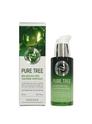 Успокаивающая сыворотка с экстрактом чайного дерева  ENOUGH Pure Tree Balancing Pro Calming Ampoule