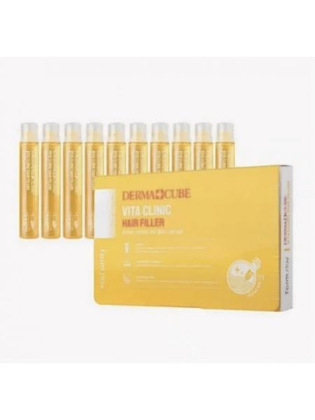 Филлер для волос витаминизирующий  FarmStay DERMA СUBE Vita Clinic Hair Filler