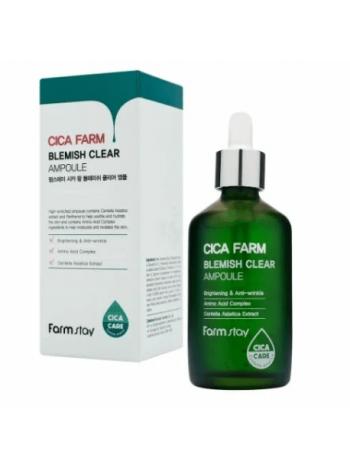 Эссенция с центеллой азиатской против несовершенств кожи  FARMSTAY Cica Farm Blemish Clear Ampoule 80 мл