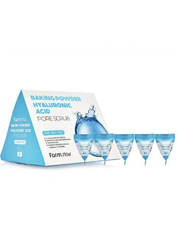 Скраб  в треугольниках с содой и гиалуроновой кислотой для очищения пор FARMSTAY Baking Powder Hyaluronic Acid Pore Scrub