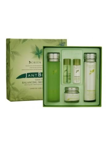 Набор для лица Jant Blanc с экстрактом зеленого чая - Green Tea Balancing Skin Care Set, тоник/эмульсия/крем