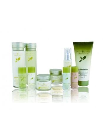 Подарочный набор косметики с зеленым чаем Jannt Blanc Green Tea Balancing Women Skin 6 Set