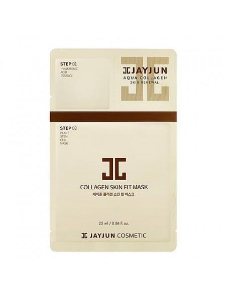 JAYJUN Cosmetic Collagen Skin Fit Mask  Антивозрастная двухэтапная тканевая маска с коллагеном