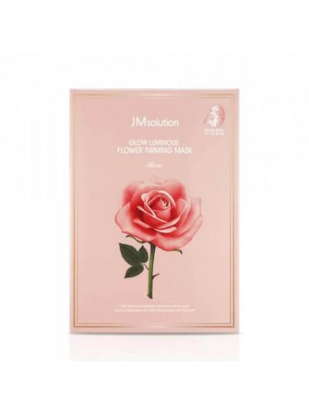 JMsolution Glow Flower Firming Mask Rose Тканевая маска с экстрактом дамасской розы