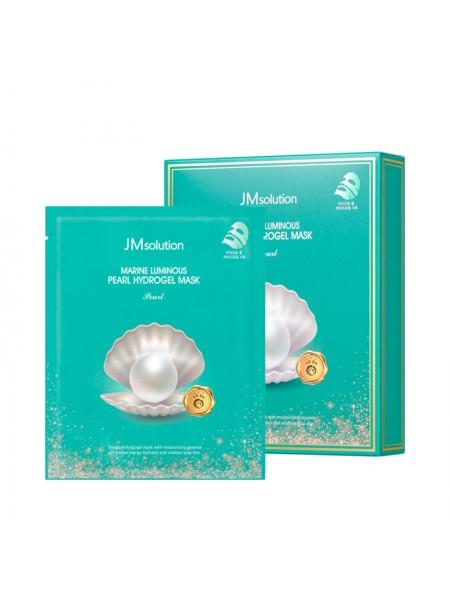 Гидрогелевая маска с экстрактом жемчуга JMsolution Marine Luminous Pearl Hydrogel Mask Pearl