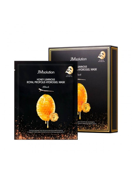 Гидрогелевая маска с прополисом JMsolution Honey Luminous Royal Propolis Hydrogel Mask Black