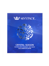 Anypack Crystal Season Second Skin Hydrogel Face Mask Collagen and Elastin  Гидрогелевая маска для лица с коллагеном и эластином