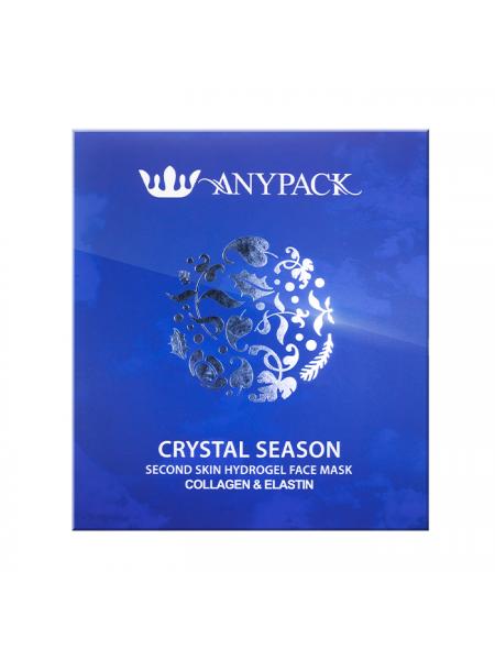 Гидрогелевая маска для лица с коллагеном и эластином Anypack Crystal Season Second Skin Hydrogel Face Mask Collagen and Elastin