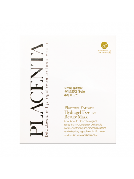 Гидрогелевая маска для лица Плацента Beau Beaute Placenta Extracts Hydrogel Essence  Beauty Mask