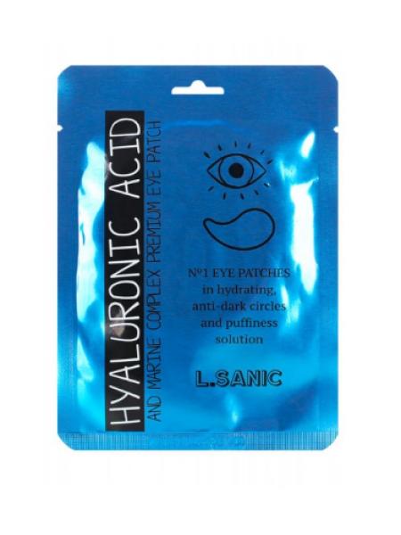 Маска- патч под глаза с гиалуроновой кислотой и экстрактом водорослей 1 пара L'Sanic patch