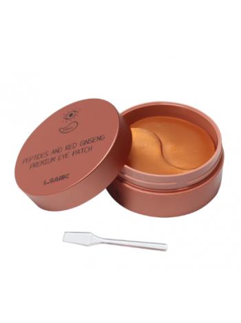 L'Sanic Peptides and Red Ginseng Premium Eye Patch Премиальные гидрогелевые патчи для области вокруг глаз с пептидами и экстрактом красного женьшеня