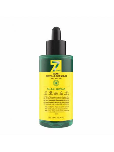 Кислотная сыворотка для проблемной кожи May Island 7 days Secret Centella Cica Serum AHA/BHA/PHA