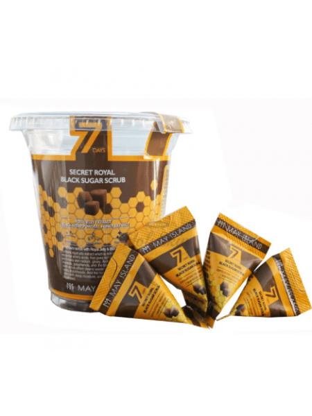 May Island  Скраб для лица в пакетиках  с черным сахаром и медом Seven Days Secret Royal Black Sugar Scrub