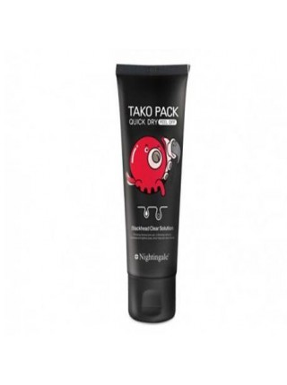 NIGHTINGALE Quick Dry Tako Pack Peel Off Черная маска-пленка для очищения пор