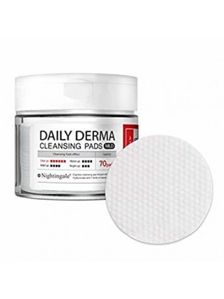 Nightingale Daily Derma Cleansing Pads Mild Тонизирующие мягкие салфетки- пэды для снятия макияжа