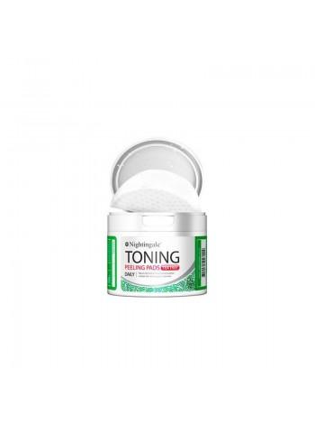 NIGHTINGALE Toning Peelings Pads Tea Tree Pouch Спонжи для мягкого кислотного пилинга кожи с чайным деревом
