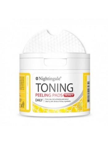 NIGHTINGALE Toning Peelings Pads Honey Тонизирующие пилинг пэды с медом
