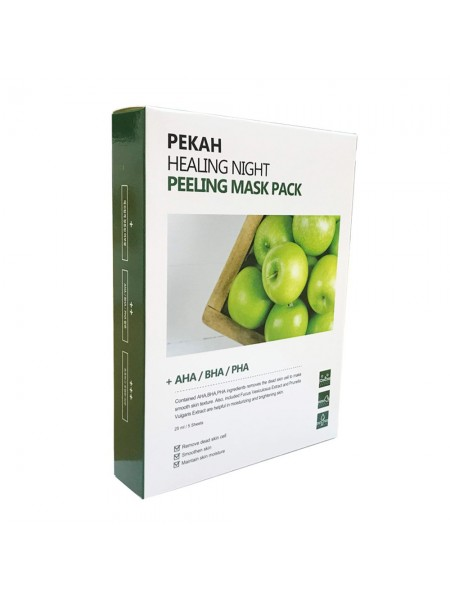 Вечерняя отшелушивающая маска -набор 5 шт. PEKAH Healing Night Peeling Mask Pack