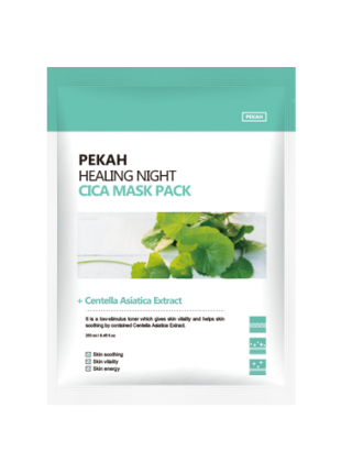 PEKAH Вечерняя восстанавливающая маска с центеллой азиатской Healing Night Cica Mask Pack