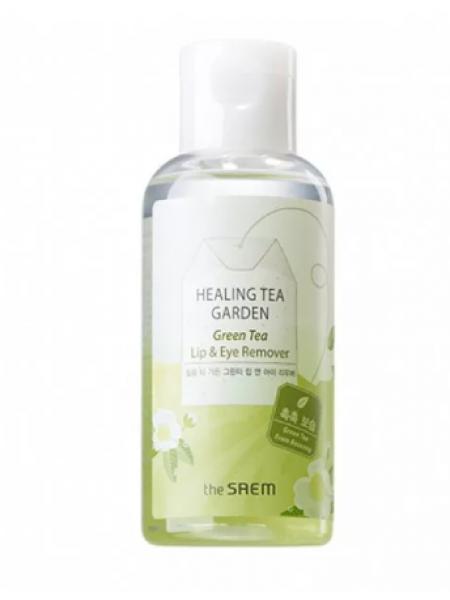 The Saem   Healing Tea Garden Green Tea Lip & Eye Remover Средство для снятия макияжа с глаз и губ с зеленым чаем