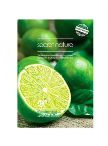Secret Nature Lime Mask Sheet [Conditioning] Бодрящая маска для лица с лаймом