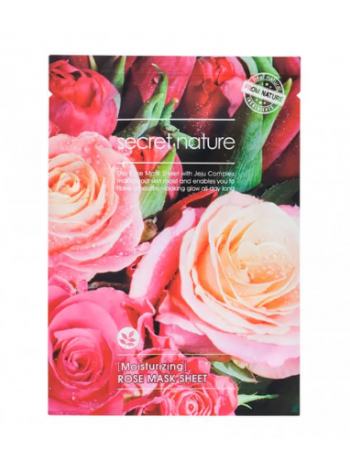 Secret Nature Moisturizing  Rose Mask Sheet Увлажняющая маска для лица с розой
