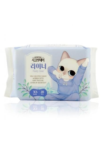 Ультратонкие  ежедневные прокладки 20 шт 14,5 см   Secret Day Cotton Cover Liner