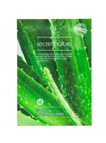 Secret Nature Soothing Aloe mask sheet Успокаивающая увлажняющая тканевая маска с алоэ