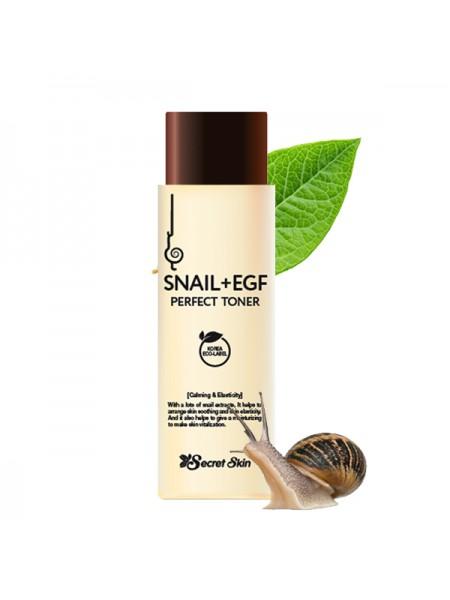 Secret Skin Snail+EGF Perfect Toner Тонер для лица с экстрактом улитки