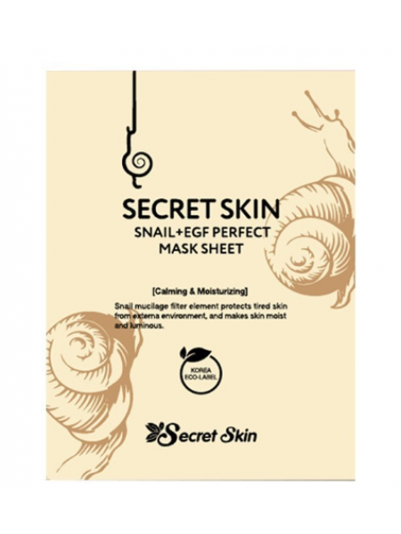 Secret Skin  Snail EGF Perfect Mask Sheet Тканевая маска с экстрактом улитки и EGF